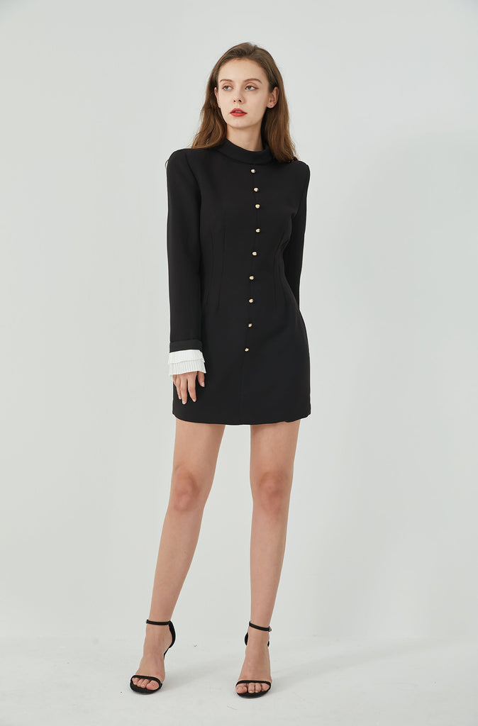 Whizz milan neck mini dress