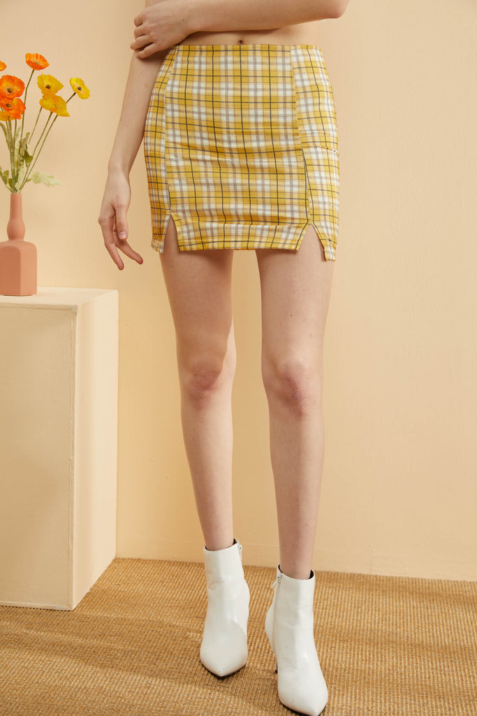 Vintage Plaid Skirt-Whizz