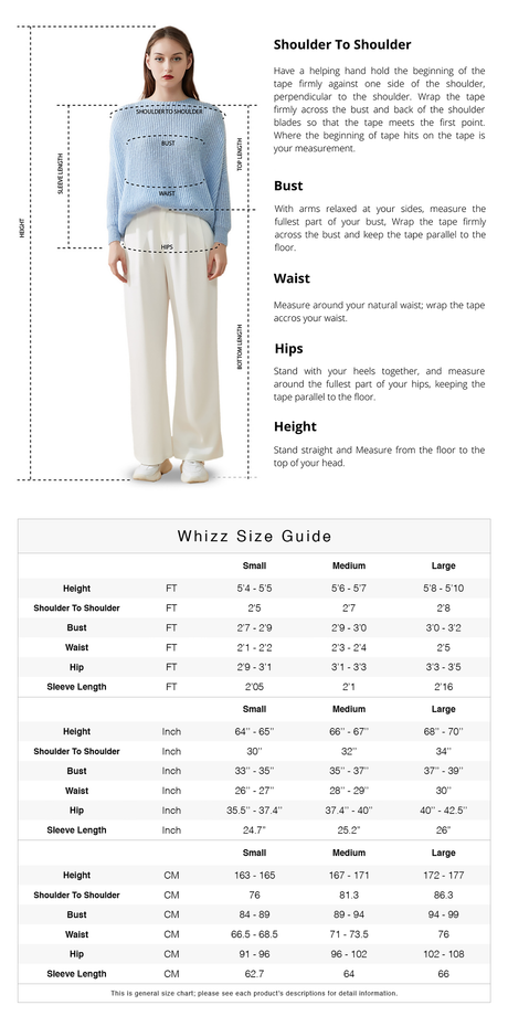 Size Guide - Whizz