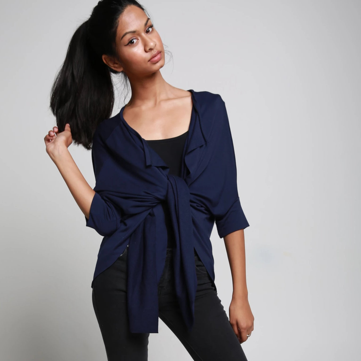 FLOW CARDIGAN NAVY