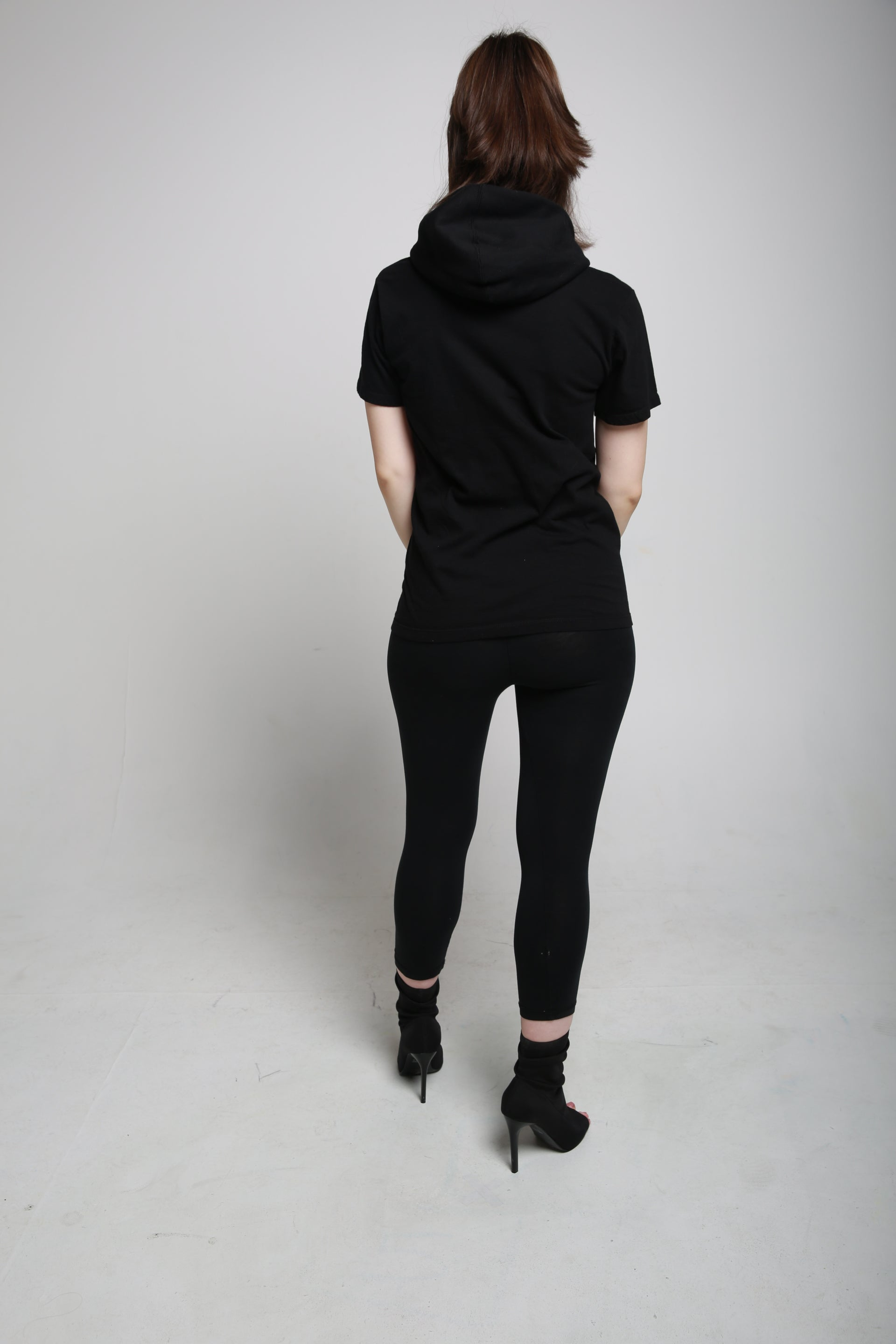 MYSTERY TSHIRT HOODED - BLACK