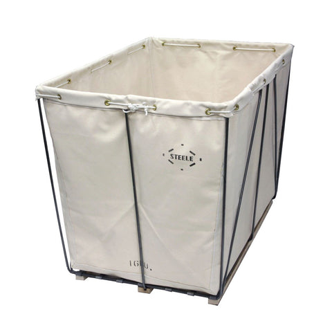 Canvas Basket Plain Steel - Removable Style