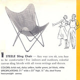 Steele Butterfly Sling Chair (Natural)