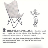 Kids Half Pint Butterfly Sling Chair (Natural)
