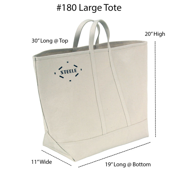 Natural Canvas Tote Bag - Large