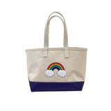 Small Rainbow Tote - Purple Steeletex Bottom