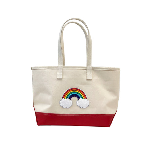 Small Rainbow Tote - Red Steeletex Bottom