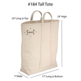 Black Canvas Tote Bag - Tall