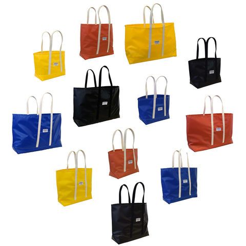 Blue Steeletex Beach Tote - Wide