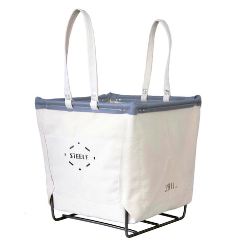Canvas Wood Basket - 2 Bu