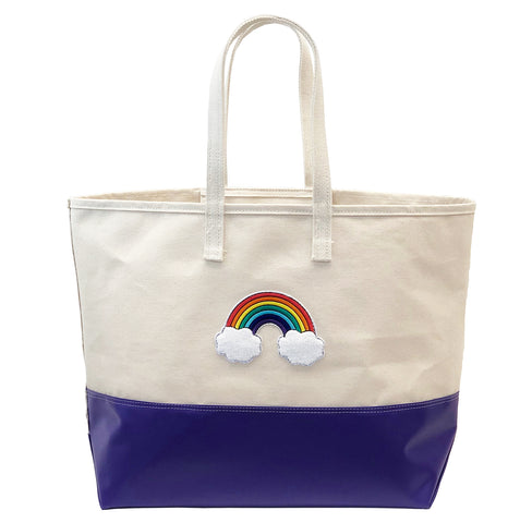Big Rainbow Tote - Purple Steeletex Bottom