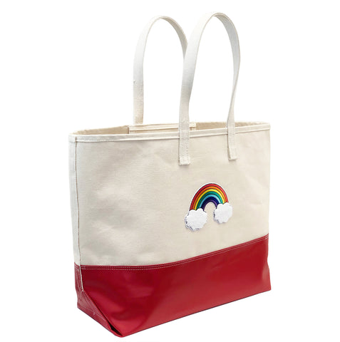 Big Rainbow Tote - Red Steeletex Bottom