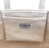 Small Rainbow Tote - Natural Canvas Bottom