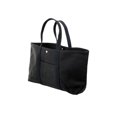 Narrow Black Canvas Tote