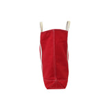 Red Canvas Tote Bag - Tall