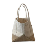 Natural & Waxed Canvas Magazine Tote