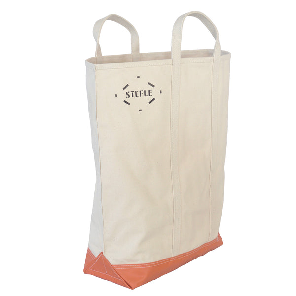 Natural Canvas Tote Bag with Steeletex Bottom - Tall