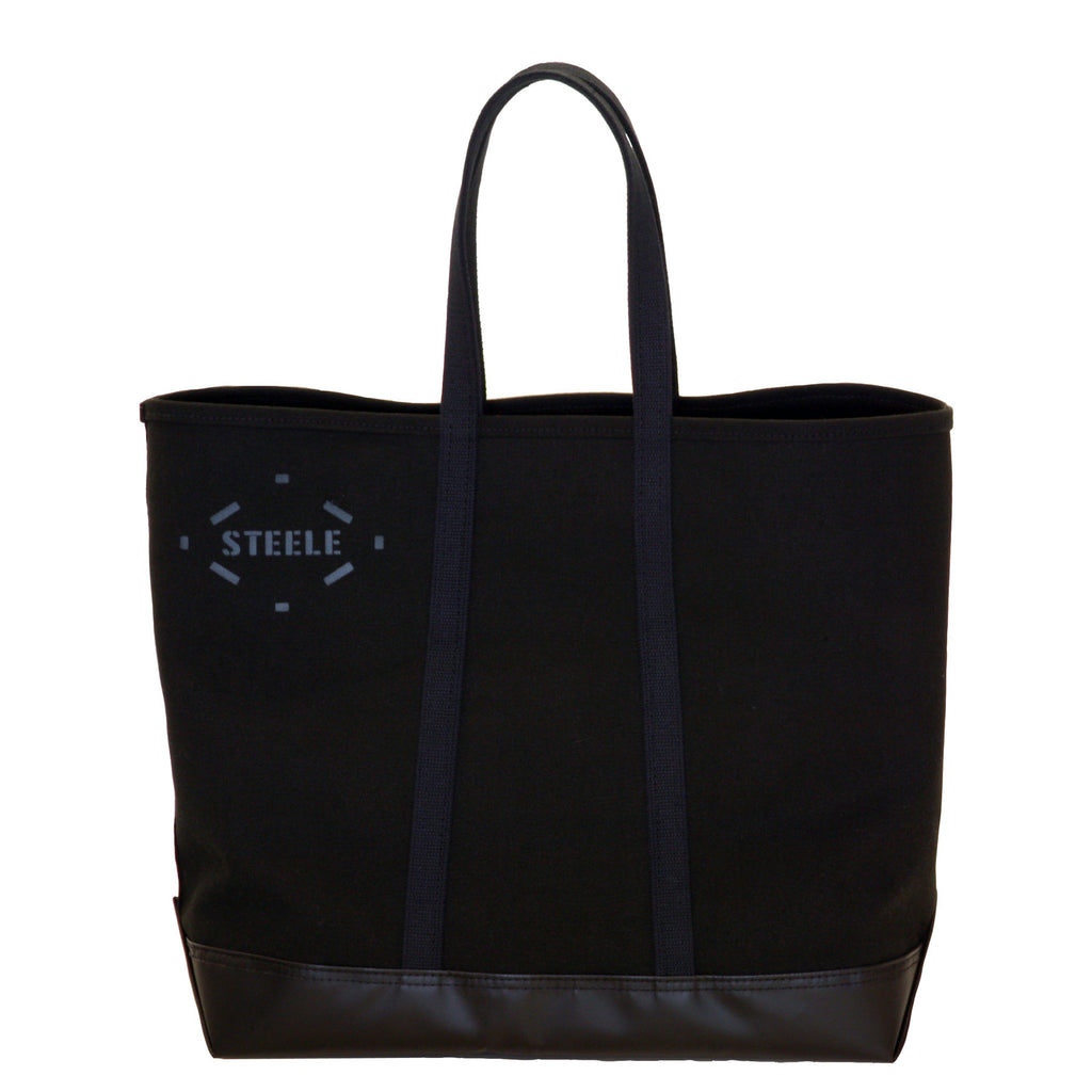 f7ec589848c6 Black Canvas Tote Bag - Medium