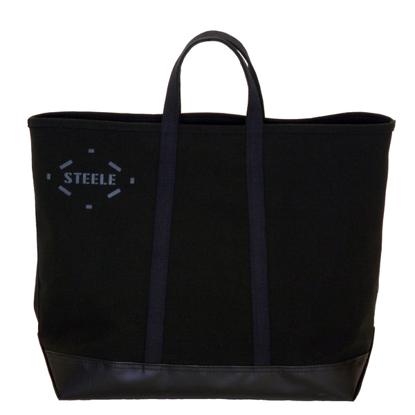 Black Canvas Tote Bag - Medium