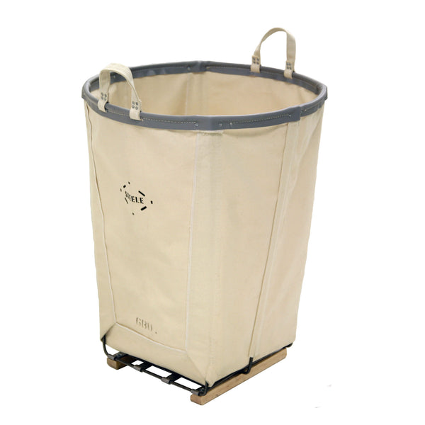 Canvas Tall Round Basket