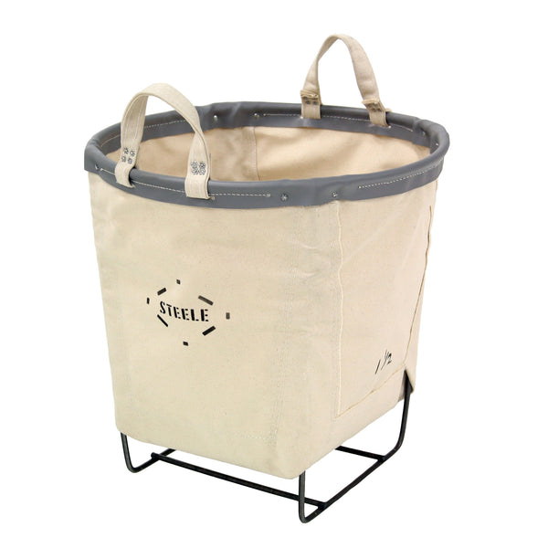 Canvas Round Carry Basket - 1.5 Bu