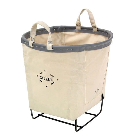 Canvas Round Carry Basket - 1½ Bu