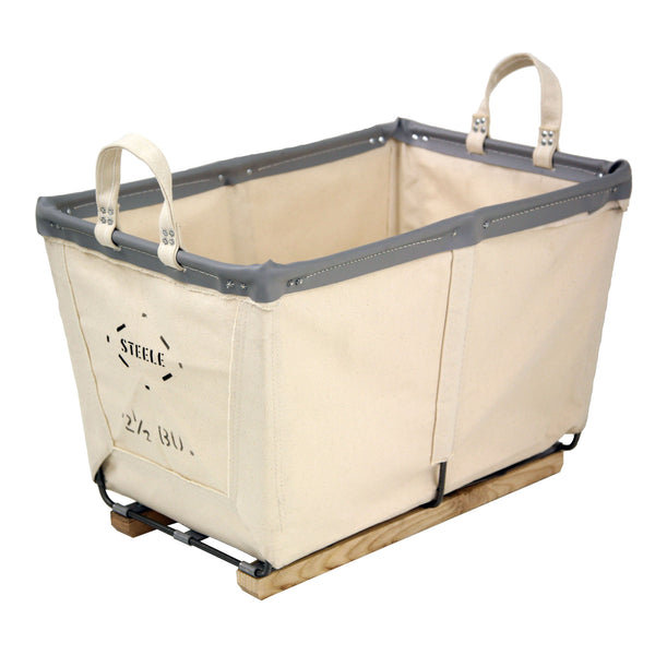 Canvas Small Carry Basket - 2½ Bu