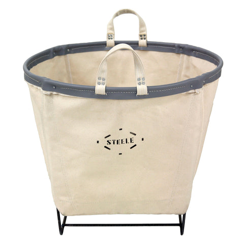 Canvas Round Carry Basket - 3 Bu