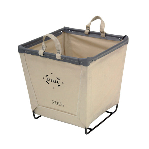 Canvas Square Carry Basket - 2 Bu