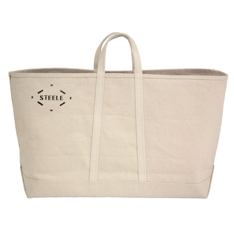 Natural Canvas Tote Bag - Wide