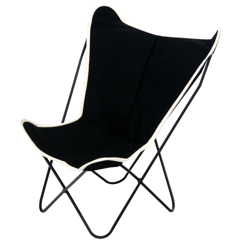 Butterfly chair black - Half Pint Butterfly Sling Chair Black