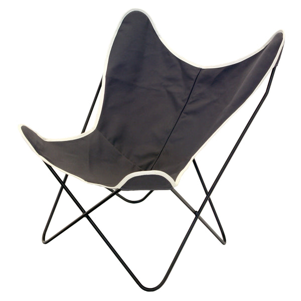 Steele Butterfly Sling Chair (Briquette)
