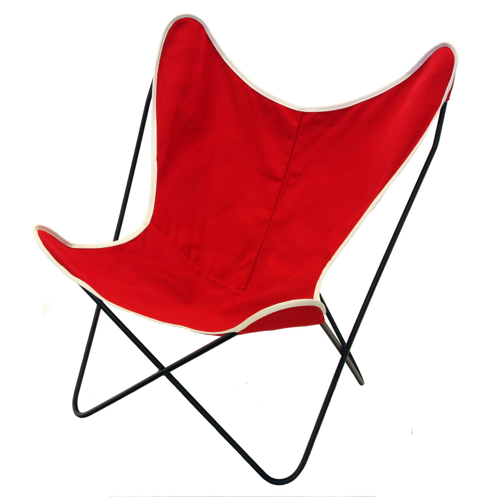steele butterfly sling chair (red)   steele canvas basket corp