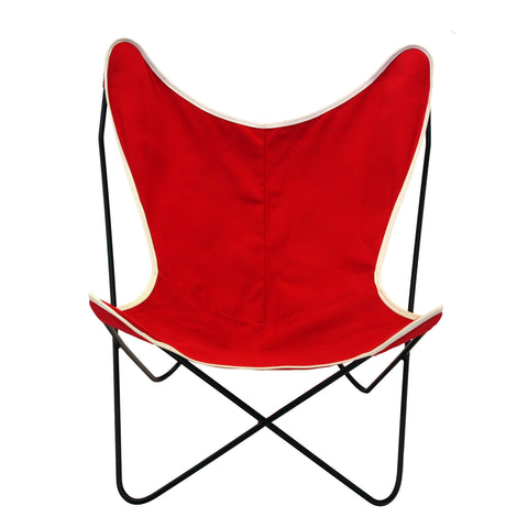 Steele Butterfly Sling Chair (Red)