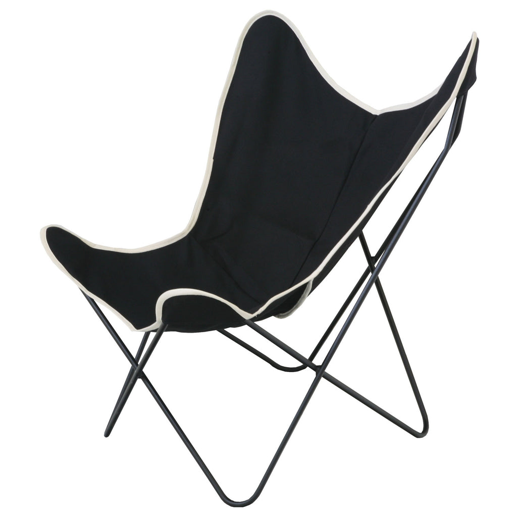 Miraculous Steele Butterfly Sling Chair Black Download Free Architecture Designs Rallybritishbridgeorg