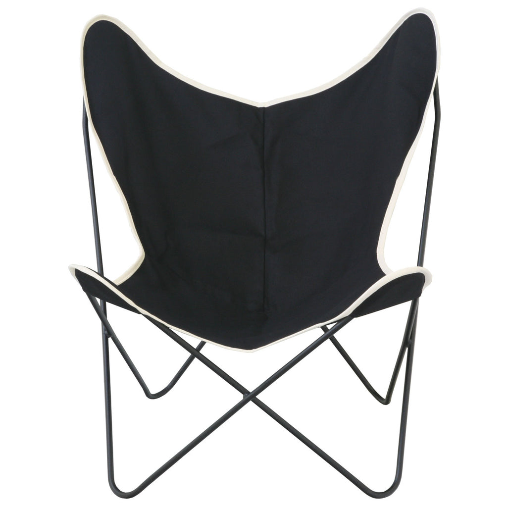 Butterfly chair black -  Steele Butterfly Sling Chair Black