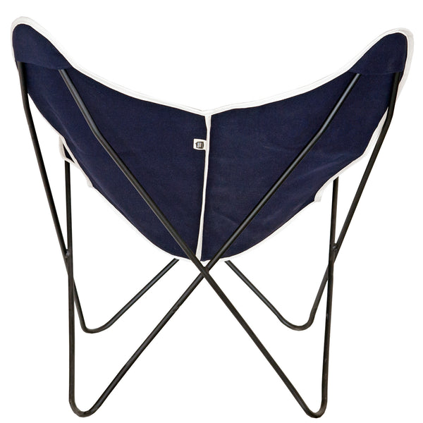 Steele Butterfly Sling Chair (Dark Navy)