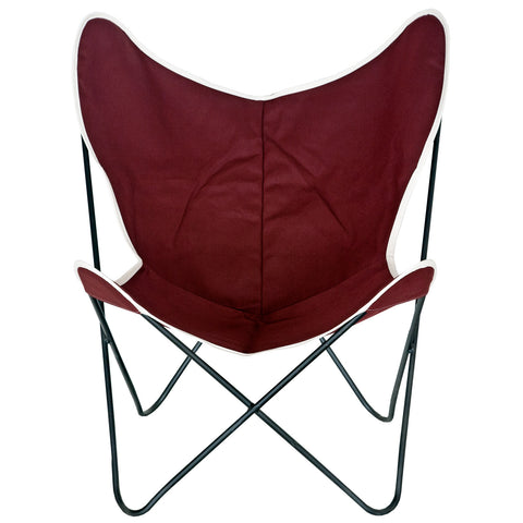 Steele Butterfly Sling Chair (Deep Auburn)