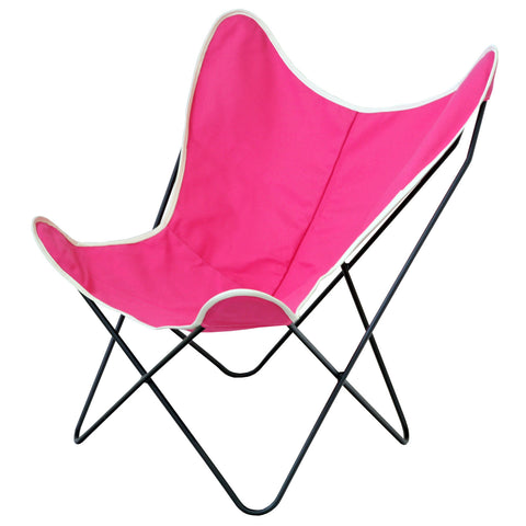 Steele Butterfly Sling Chair (Pink)
