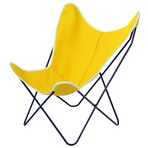 ... Steele Butterfly Sling Chair (Yellow)