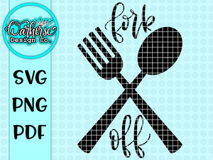 Fork Off SVG/PNG/PDF