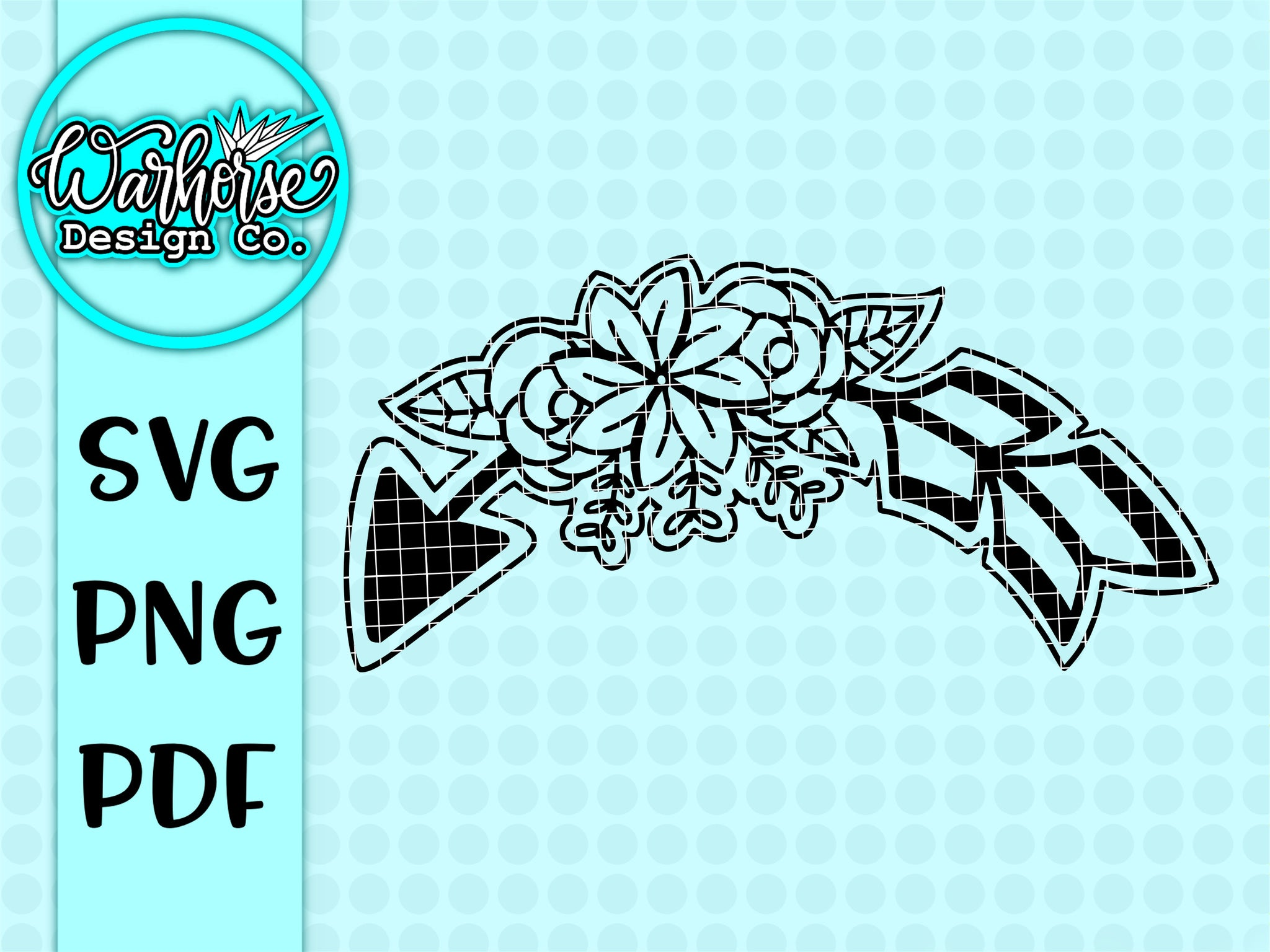 Floral Arrow SVG PNG PDF