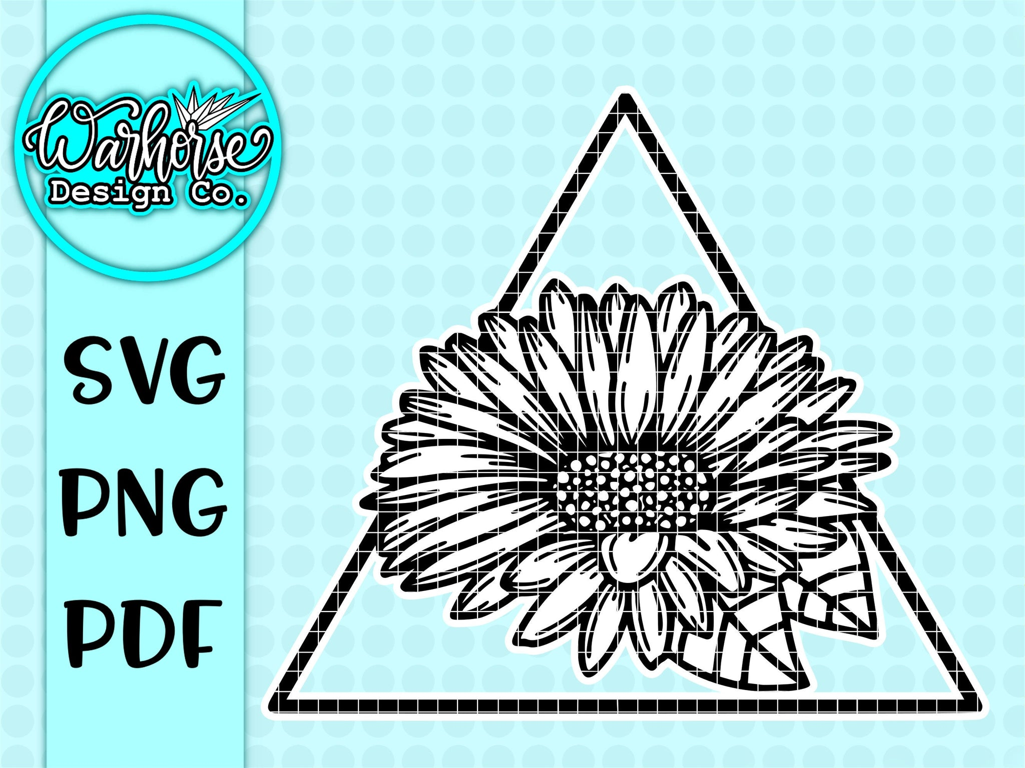 Geometric Sunflower SVG
