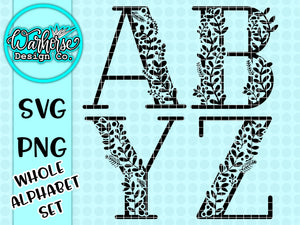 Monogram Alphabet SVG bundle