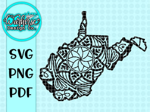 West Virginia Mandala SVG PNG PDF