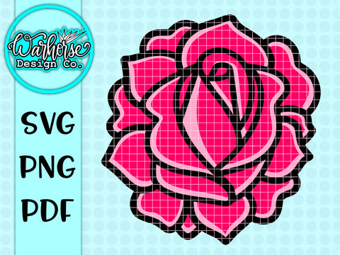 Rose SVG PNG PDF
