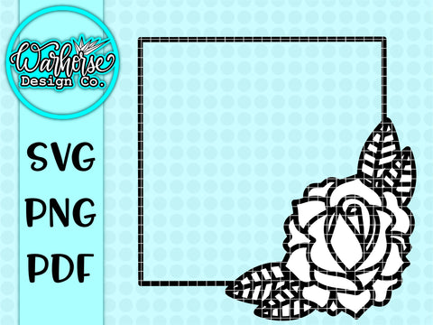 Rose frame SVG PNG PDF