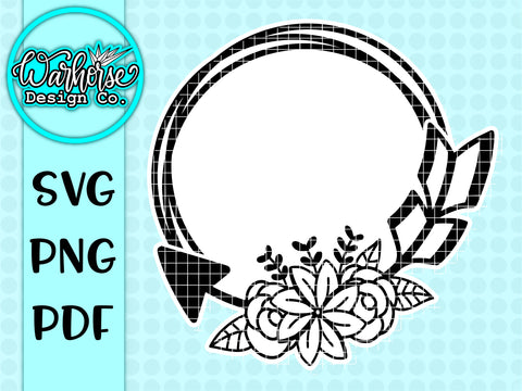 Floral Wreath SVG PNG PDF