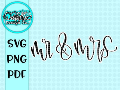 Mr & Mrs Svg PNG PDF