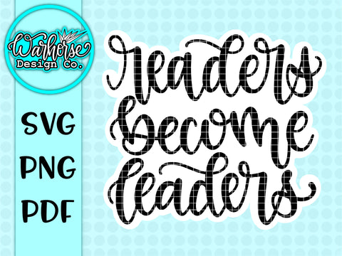 Readers become leaders SVG PNG PDF